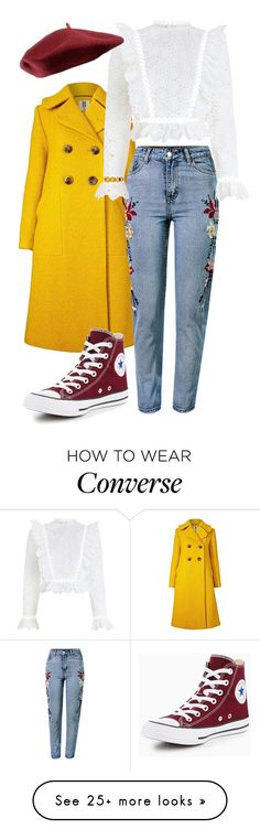 """English Campain"" by morgane-fauveau on Polyvore featuring Orla Kiely, WithChic, Zimmermann and Converse"