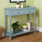 "Found it at Wayfair - Abney Console TableDimensions: 33.5"" H x 35.4"" W x 13.7"" D"