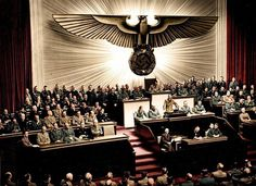 Hitler announces the declaration of war against the United States on 11 December 1941.