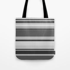 complex Stripes Grey Tote Bag by laec Grey Tote Bags, Striped Tote Bags, Beautiful Bags, Grey Stripes, Stuff To Buy, Gray Stripes