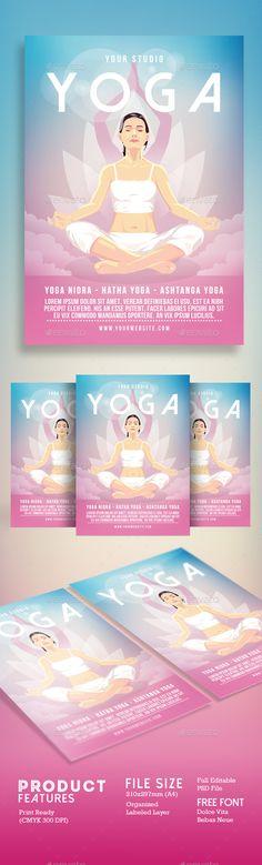Simple Yoga Flyer Vol03 Simple yoga, Flyer template and Yoga - yoga flyer