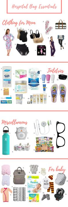 The perfect list of labor & delivery hospital bag essentials you can order on Amazon.com!