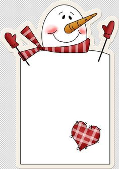 paper idea for snowman poem Christmas Gift Tags, Christmas Snowman, Winter Christmas, Christmas Crafts, Diy And Crafts, Paper Crafts, Country Paintings, Nouvel An, Writing Paper