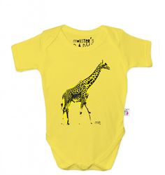 Giraffe babygrow from Monster's Baby exclusive at Selfridges for spring 2013 kidswear