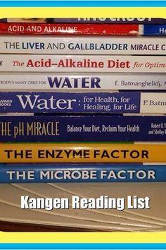 Great Books to read jacinta@kangenrunningwater.com and Kangen Water - www.healthybydannorris.com, www.kangendemo.com, 407-749-9395, dannorris42@gmail.com