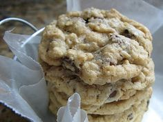 My go-to oatmeal chocolate chip recipe.  Great with stone ground whole wheat flour and substituting half of the oatmeal with museli.