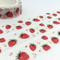 strawberry tape 10M strawberry washi tape yummy fruit deco tape sticker kawaii strawberry tape removable adhesive tape scrapbook gift