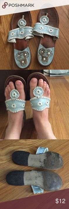Jack Rogers light blue sandals Size 7 Loved, but life left! Size 7...from a smoke free and pet free home Jack Rogers Shoes Sandals