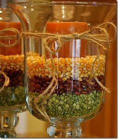 Easy Fall/Anytime Candle Holders  Flower Arrangements