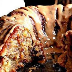 Brown sugar pound cake with caramel drizzle, fo sizzle my drizzle!