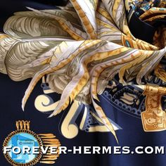 In our store http://forever-hermes.com #ForeverHermes this couture house Hermes Paris's attempt to take you on a travel to Mexico with this #Silk scarf titled Mexique designed by Cathy Latham that would make a stunning #WallDecoration featuring #Maya #Inca #Aztec artifacts straight from the museum! All in heavy #gold and precious #turquoise stones! #dapper #gentleman #MensSuit #menstyle #mensfashion #womensfashion #womenswear #feather #jewelry #Hermes #HermesCarre #Mexico