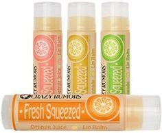 Crazy Rumors Fresh Squeezed Vegan Lip Balms