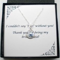 Silver Infinity Bridesmaid Necklace Set of 4 by StarringYouJewelry, $88