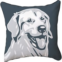 Naked Decor // Golden Retriever Pillow