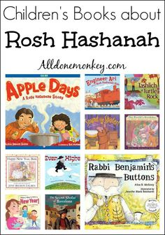 Children's Books about Rosh Hashanah - All Done Monkey Children's books about Rosh Hashanah, part of the Jewish High Holidays for Kids series from Jewish High Holidays, Happy Rosh Hashanah, Jewish Celebrations, Hebrew School, Kids Series, Learn Hebrew, Thing 1, Biographies, Teaching Reading