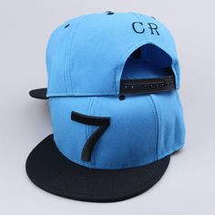 Cristiano Ronaldo CR7 Football Soccer Hat Cap Blue Real Madrid Portugal #Natalie