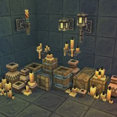 Low Poly Pixel Dungeon Deco Set 01 by BITGEM Get started on your new game prototype quickly with this low poly, hand painted pixel dungeon decoration set. You should find the Art Minecraft, Minecraft Tutorial, Minecraft Creations, Minecraft Projects, Minecraft Designs, Minecraft Mobile, Pixel Art, 3d Pixel, Voxel Games
