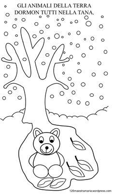 Libretto con poesia da colorare per la stagione invernale Booklet with poetry to be colored for the winter season Maestramaria