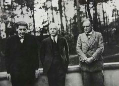 Walter #Gropius with Béla #Bartók and Paul #Klee in #Dessau, 1927.