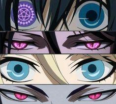 Black Butler eyes. Ciel Phantomhive Sebastian Michaelis Alois Trancy Claude Faustus