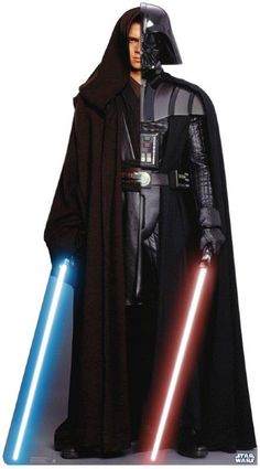 Anakin Skywalker / Darth Vader Light Side / Dark Side in the same picture! I LOVE IT!