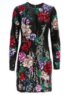 ZUHAIR MURAD - floral sequinned dress 6