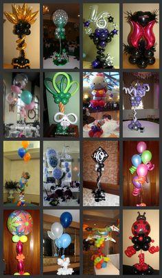 balloon centerpieces - fun and unique
