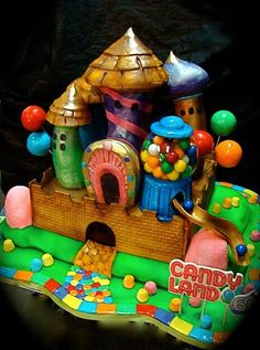 Candyland love it but Jess would die laughing if I said this is what we are doing for illy's birthday cake