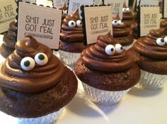 Shit just got real cupcakes graduation - Banana Cupcake Ideen Graduation Party Desserts, Graduation Food, College Graduation Parties, Graduation Cupcakes, Graduation Celebration, Grad Parties, Graduation Decorations, Graduation Quotes, Graduation Party Ideas High School