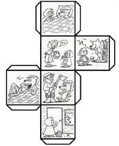 Have students color, cut, fold, and paste to make a story cube that can be used to retell Story Cubes, English Activities, Book Activities, Little Pigs, Little Red, Fairy Tale Crafts, Teaching Reading, Learning, Traditional Tales