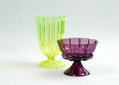 Josef Hoffmann (1870-1956), Wiener Werkstätte, Glass Vases.