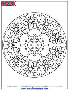 Free Printable Mandala Coloring Pages | Advanced Mandala 21 Coloring Page