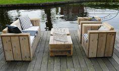 lounge set van steigerhout