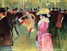 Toulouse - Lautrec, Le bal du Moulin Rouge .