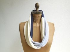 Notre Dame T Shirt Scarf / Infinity Scarf / Navy Blue by ohzie, $29.00