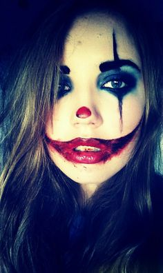clown, creepy, diy, halloween, halloween makeup, make up, makeup, halloween look