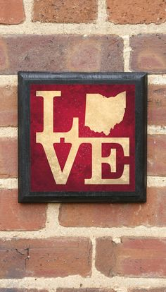 Ohio LOVE Vintage Style Plaque/Sign Decorative & by CrestField, $32.00