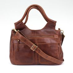 Leather Handbag Satchel - handmade by The Leather Store on Etsy
