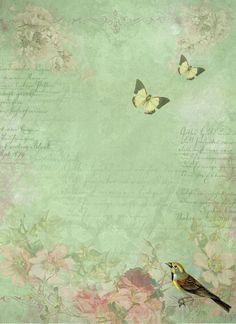 Vintage Butterflies Background ~ LÁMINAS VINTAGE,ANTIGUAS,RETRO Y POR EL ESTILO.... (pág. 801) | Aprender manualidades es facilisimo.com