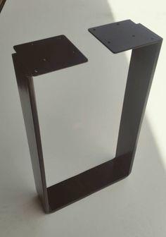 Pair Of 72cm Flat Steel Hallway / Side Table Legs. U By ModrnAu On Easy