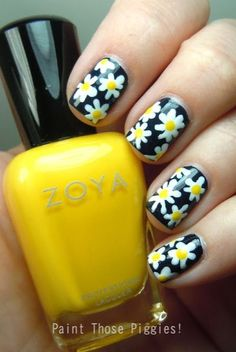 Best 101 Sophisticated Black Nail Art Designs And Ideas Best 101 Sophisticated Black Nail Art Designs And Ideas Nail Design Ideas Yellow And Black Nail Ideas Nail Ideas Nailideas Nail Art Designs, Nail Designs Spring, Nail Polish Designs, Pedicure Designs, Nails Design, Yellow Nail Art, Floral Nail Art, Cute Nails, Pretty Nails