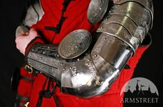 MEDIEVAL SPLINTED BRACERS ARMS ELBOW COPS WITH ETCHING