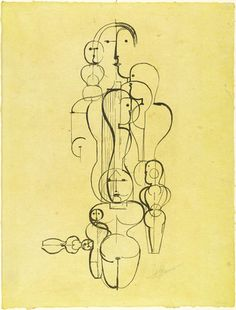Concentric Group: Figure Plan K1from the portfolio New European Graphics, 1st Portfolio: Masters of the State Bauhaus, Weimar Oskar Schlemmer