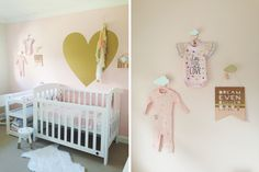 #Pink + #Gold -pinned by auntbucky.com #baby #nursery