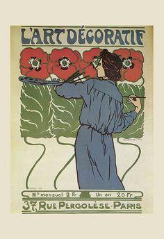 Antique Art Nouveau Poster Fine Art Print by EncorePrintSociety