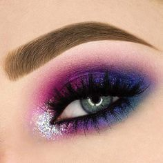 """23 Gorgeous Summer Makeup Looks – Estella K. 23 Gorgeous Summer Makeup Looks – Estella K.,Eyes 23 Gorgeous Summer Makeup Looks – Related posts:Get the Look with Motives®: """"Starshine"""" Makeup Tutorial. Purple Smokey Eye, Purple Eye Makeup, Colorful Eye Makeup, Smokey Eye Makeup, Eyeshadow Makeup, Makeup Brushes, Summer Eye Makeup, Bright Eye Makeup, Spring Makeup"""