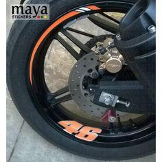 Thick Outer Rim Liner Stripe for Kawasaki Ninja 636 2 Tone Amethyst