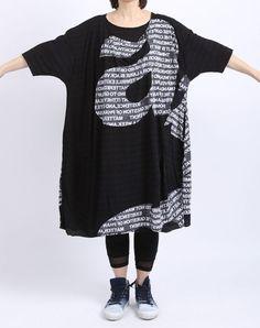 rundholz black label - Shirtkleid Oversize mit Buchstaben black print - Sommer 2016 - my style ?
