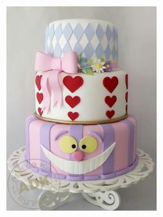 I need this cake! Simple, yet beautiful :) I may just go with different colors though.... not sure