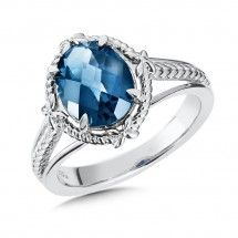 Sterling Silver London Blue Topaz Ring For more information visit us at www.georgeandcodiamonds.com